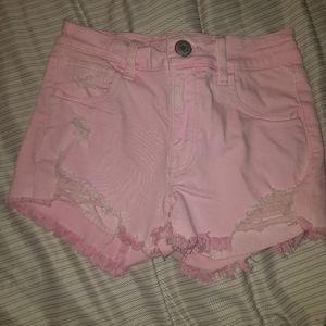 American Eagle Size 0 Pink Hi-Rise Shorts